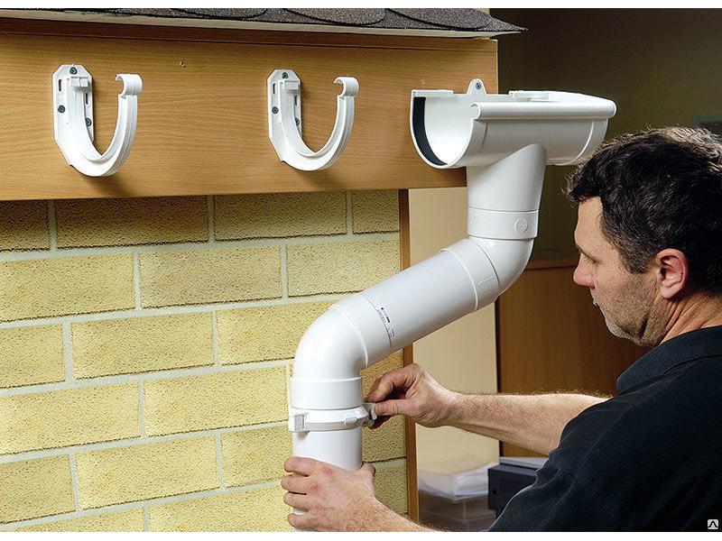 Установка водосточной системы из пластика своими руками пошаговое фото 63